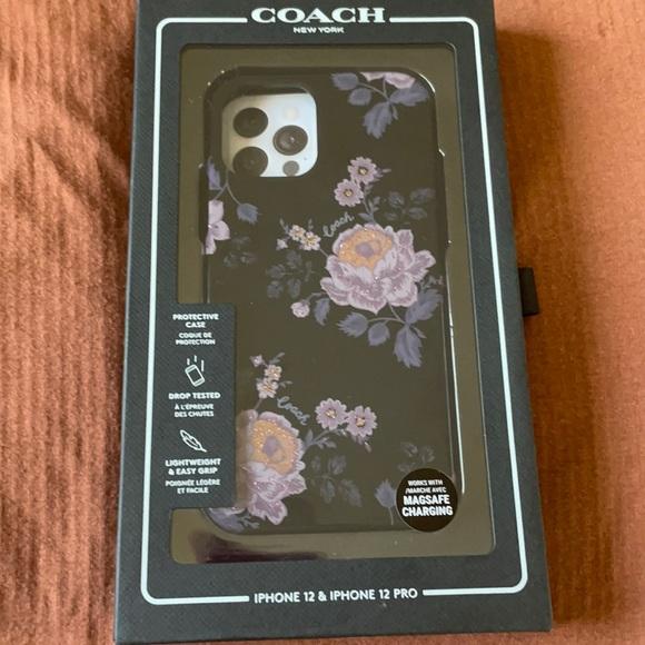 Coach IPhone 12 Pro Black/Floral Case